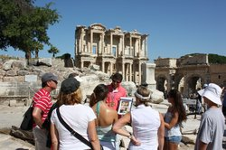 Enjoy your Ephesus Tour - Ephesus Tour Guide stop at the Celsus Library in Selcuk, Ephesus       - Who is Tiberius Julius Celsus Polemaeanus?