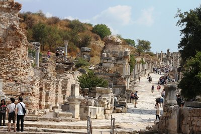 Ephesus, Turkey - Curetes Street View